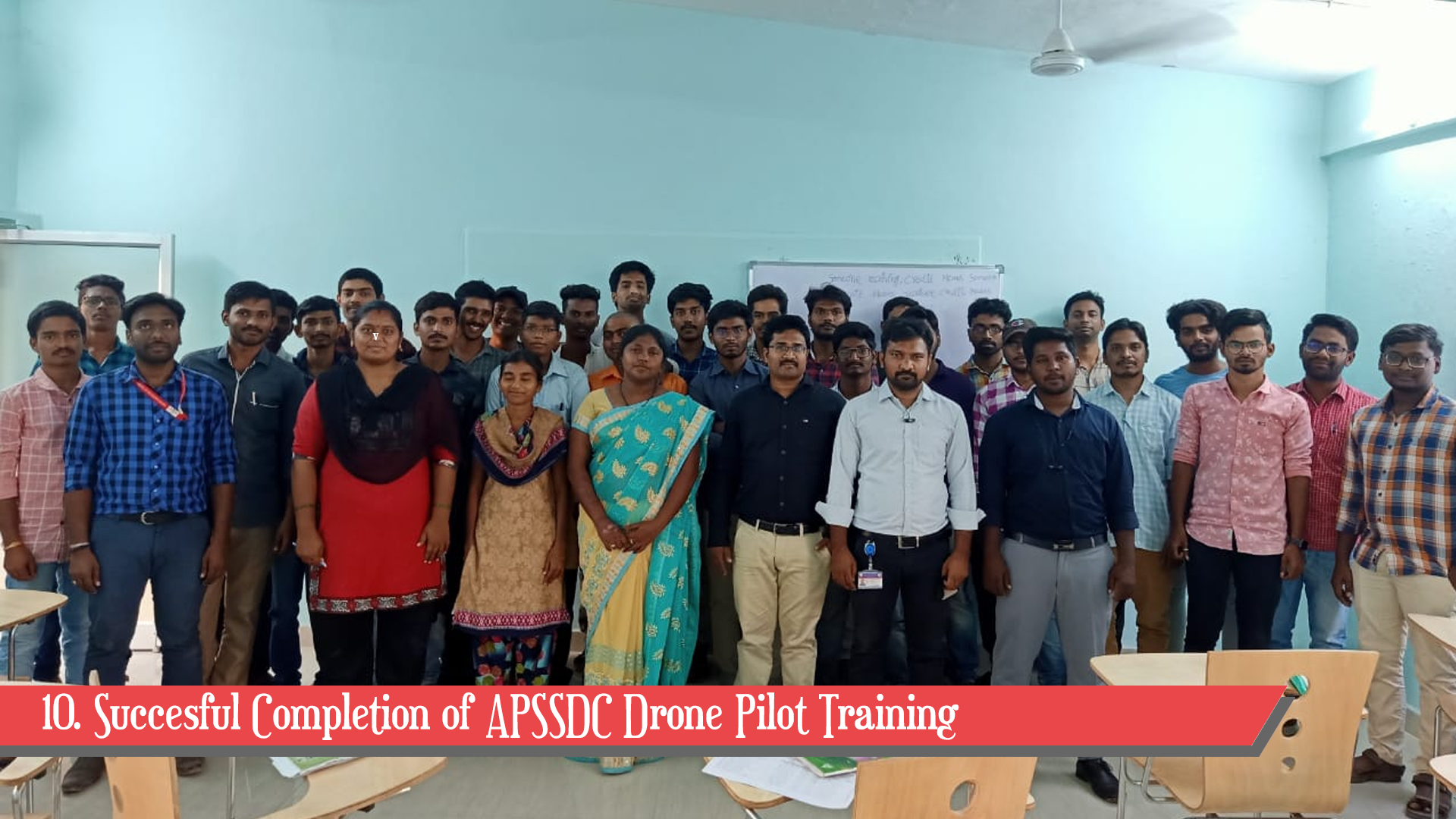 10. Succesful Completion of APSSDC Drone Pilot Training